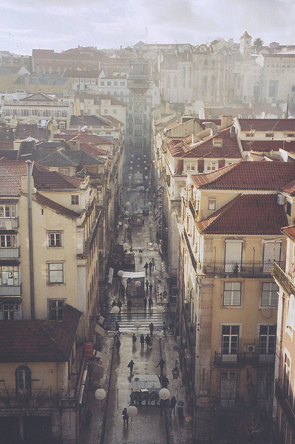 travelingcolors:  Baixa, Lisbon | Portugal (by Joana Lee)