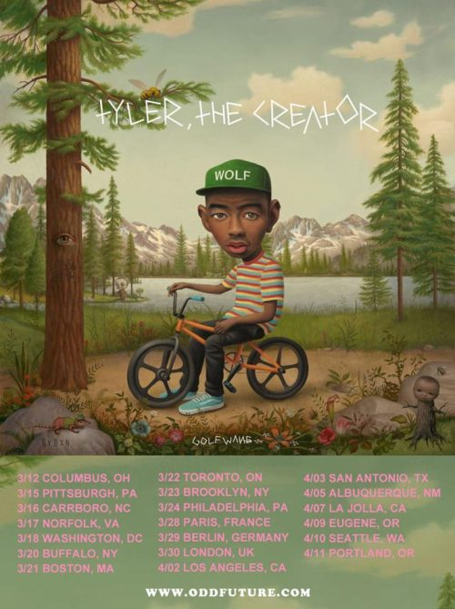 Tyler, The Creator has released March and April tour dates.