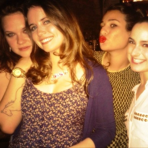 weaponforsaturday:  last night w my favorite ladies @phoebestrole @remyzaken @msleamichele (at Fairytail Lounge)