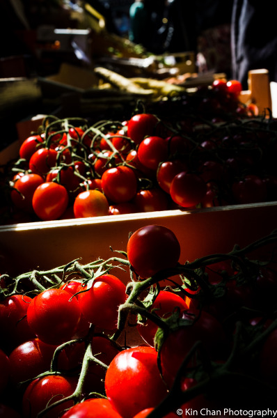 Kin Chan Well Lit Tomatoes, Borough Market, London 2013 Kin Chan's Facebook Page