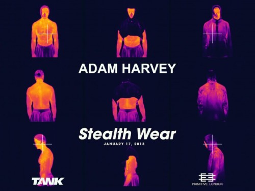 2020:  Stealth Wear is a collection of counter surveillance garments and accessories that explores the aesthetics of privacy and the potential for fashion to challenge authoritarian surveillance. The anti-drone hoodie and anti-drone scarf: garments designed to thwart thermal imaging, a technology used widely by UAVs. The XX-shirt: a x-ray shielding print in the shape of a heart, that protects your heart from x-ray radiation And the Off Pocket: an anti-phone accessory that allows you to instantly zero out your phone's signal.