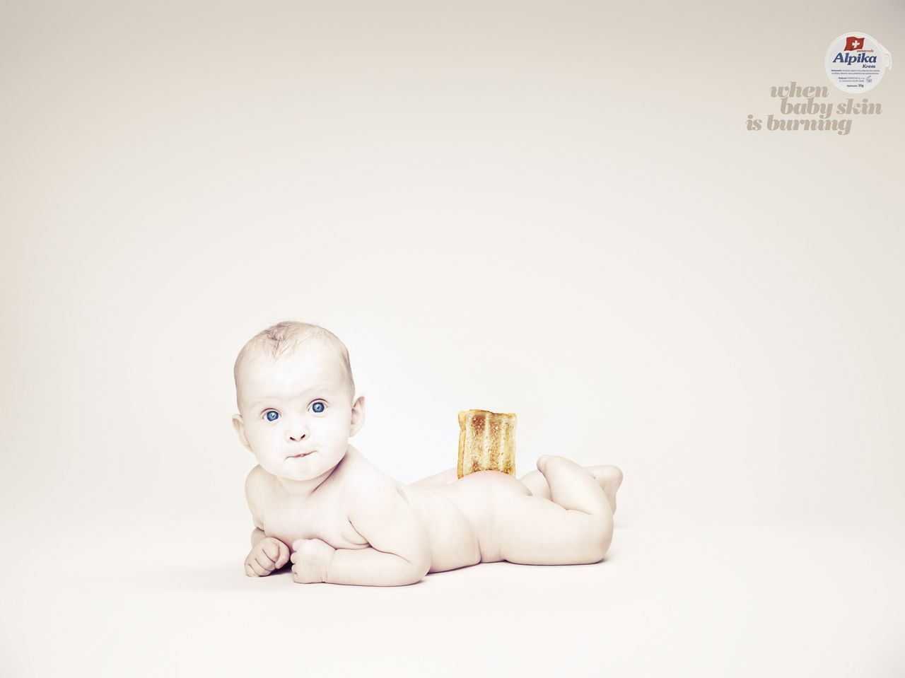 When baby skin is burning- Alpika diaper rash cream ad by McCann Erickson, Poland