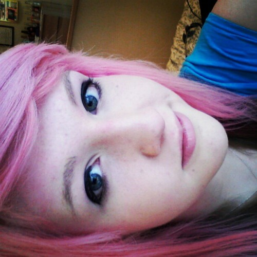 YUSS. #pink #hair #pinkhair #blonde #love #blue #eyes #girl #pretty