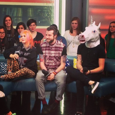 "newmusiclive: ""Wait! When did a unicorn join @paramore?"" (x)"