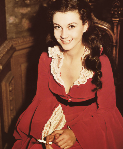 Vivien Leigh behind the scenes on Gone with the Wind, c. 1939