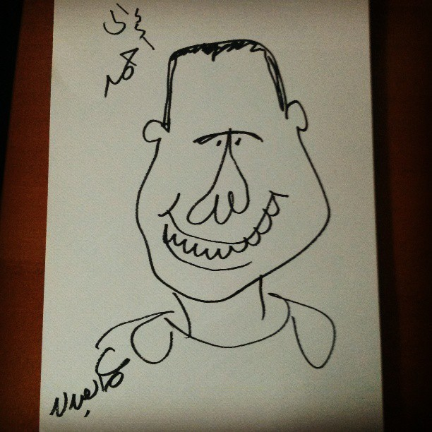 My handsome cartoonist face as drawn by @omarcartoonist ;)