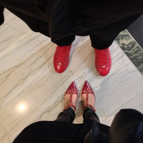 We're going to paint the town red #balenciaga #valentino #leather #newyorkerallblackswag