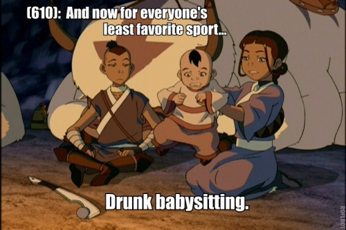 Sokka and Katara ain't cancelling their Mission Accomplished celebration party just because Momo stole a baby.