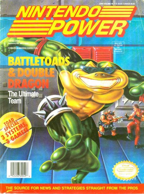 Nintendo Power magazine Battletoads & Double Dragon cover.