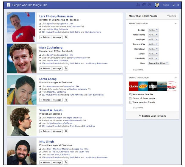 Facebook Graph Search Arrives To Challenge Google