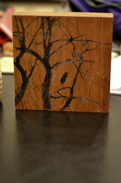 324/366: Wood block photo transfer project on Flickr.