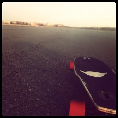 first time longboarding after a long winter.