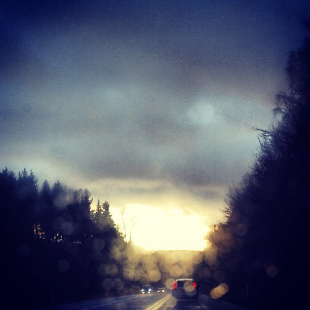 #wood #light #sun #car #rain #drops #dark #clouds #trees #street #luxembourg