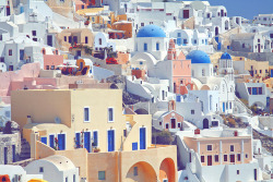 musicy:  I think this is Santorini. But oh my gosh, it's a beautiful place! I would love to go there someday.