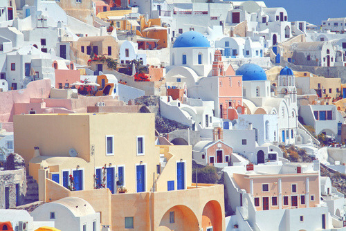 fleurilia:  musicy:  I think this is Santorini. But oh my gosh, it's a beautiful place! I would love to go there someday.  it has a shit ton of donkeys ill tell ya that
