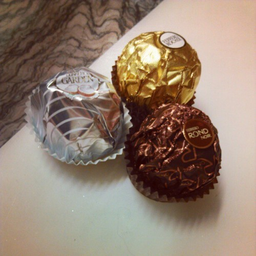 Day 64. Didn't know there were other flavors… #ferrerorocher #project365 #day64