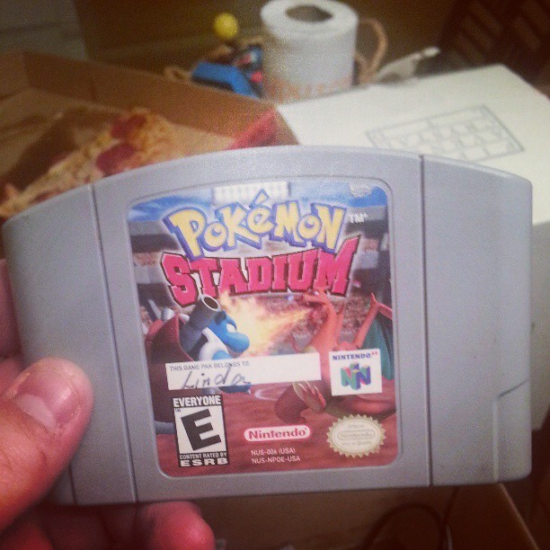 Just scored this beauty PLUS an N64 for helping out Aimee. #n64 #pokemon #pokemonstadium #slave #cottonpicker #baller