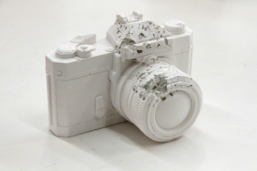 artruby:  Daniel Arsham, Eroded Camera (2012).