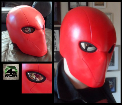Test casting of Red Hood helmet.