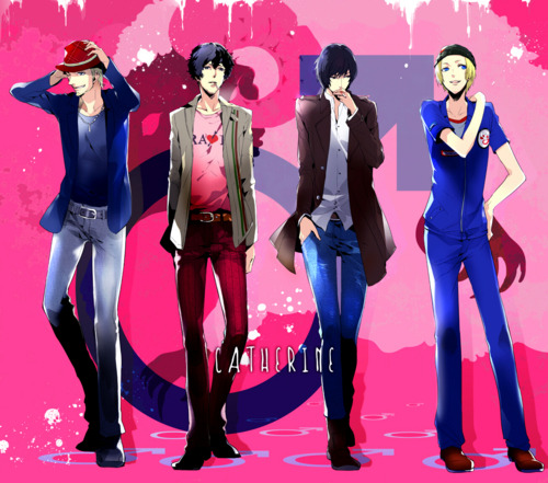 mochibombs:  the boys from Catherine (PS3 game)  I hope I find myself spending nights with people I care about in a bar, just drinking and talking for ages and ages :).