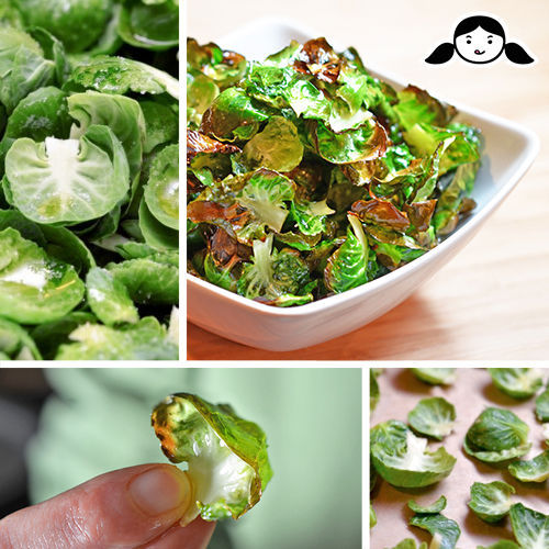 Whole30 Day 29: Brussels Sprouts Chips by Michelle Tam http://nomnompaleo.com