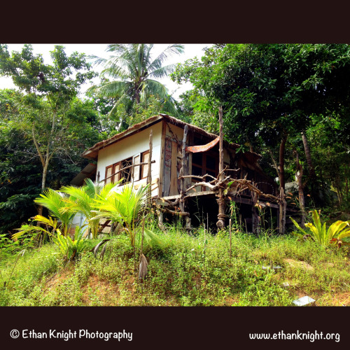 A small abandoned cabin on a remote part of Kho Tao island, south Thailand. Thoughts of a different life passed though.