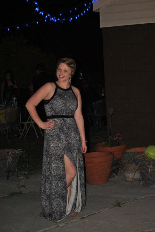 Me at prom! Medium sized dress from Urban outfitters. I weigh 165 lbs and wear a size 10-12 pant size