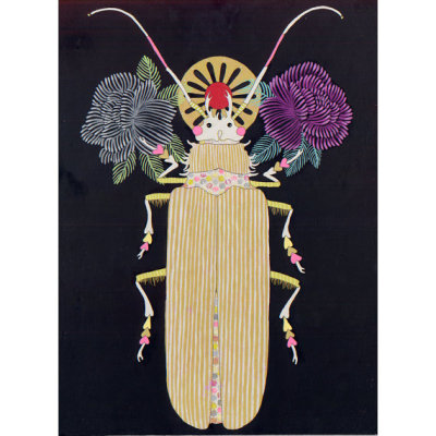"$550BeetleJennifer Davisacrylic/graphite painting on board12"" x 16"" make it mine"