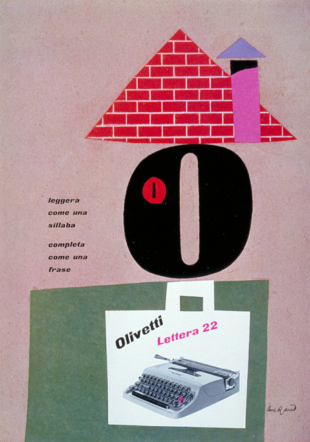 design-is-fine:  Paul Rand, Olivetti poster for typewriter lettera 22, 1953