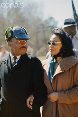 love2sepia:  March 1965, Alabama, USA —- Martin Luther King and wife Coretta Scott King leading march from Selma to Montgomery to protest lack of voting rights for African Americans. —- Image by © Steve Schapiro/Corbis
