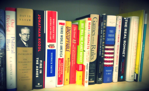 Here's our bookshelf at KCRW. What's on your bookshelf?