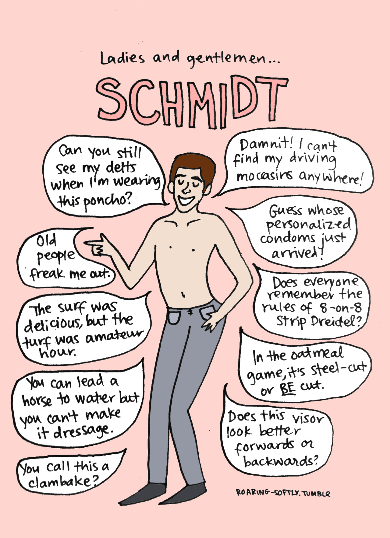 Schmidt for meghanshmeghan!  And also for me.  Because I love Schmidt. (by Tyler Feder)