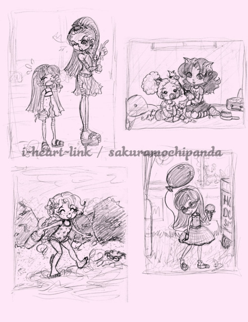 sakuramochipanda:  MH: Kids by ~I-heart-Link Some of the Monster High girls as kids~!