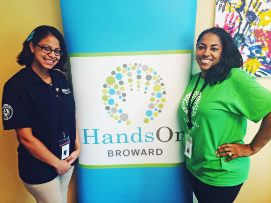 Carolina Linares, an AmeriCorps VISTA member, and Tamika Mallard, join HandsOn Broward, which provides financial coaching to their local community through a partnership with Points of Light, Bank of America and AmeriCorps VISTA