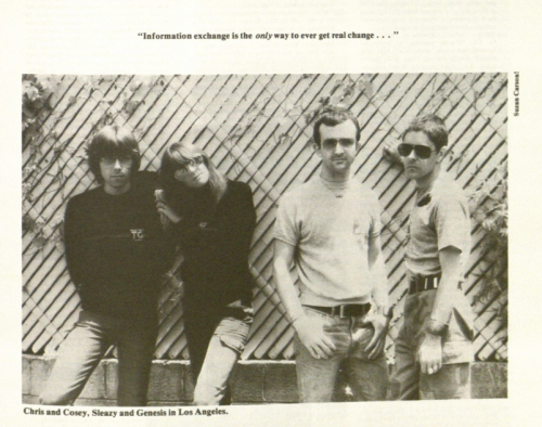 theatrecollage:  bibliographics:  Throbbing Gristle on the importance of Library & Information Science.  information exchange is the only way to every get real change…