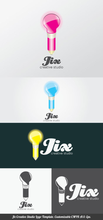 Jix Creative Studio Logo Template you can use for your trademark, branding identity or commercial brand. It is good for your company, corporate, club, organization & community. You can apply it in your stationery, neon box, uniform, product package, business card, etc. It contained customizable CMYK Ai & Eps files that you can change colors, shape, text, font type, position and size easily. Single color version, vertical & horizontal version included. Fonts are not included but you can obtained free from specific website that indicated in the font links file. Font links & license included in the main file. Enjoy!  Download here: http://files.indowebster.com/jix_creative_studio_logo_template.html