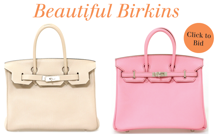 We got Birkins! Check out these beauts on auction @shopedropoff.com