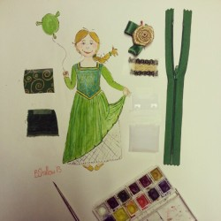 Most recent commission - Princess Fiona for ca 6 year olds Shrek party! #fun #fancydress #shrek #art #craft #design #illustration #children