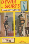 "keenlyclarkkently:river-of-constant-change:Bettie Page is featured on the back cover of an interesting limited edition digest magazine entitle ""Devils in Skirts: Dominant Women"" published in 1964 by Selbee Associates.It also features dominatrix art by Eric Stanton and Gene Bilbrew and pictorials of nightclub dancers Tana Louise, Meg Myles, Lonnie Young and Tanya Benet. There are also articles entitled ""Devils in Skirts"" and ""We're Being Ruled By Women.""If you're a collector, a very good copy is available on eBay,http://www.ebay.ca/itm/232312939756these are some totally old-school raging boner classics. I love this era of leather femdom"