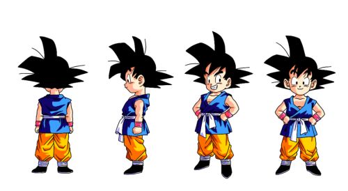 super-saiyan-detective-nge:  Kid Goku GT colored by ~Ninja-pineapple
