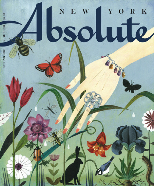 soyouthinkyoucansee:  o.hajek.absolute. cover illustration,  flowers