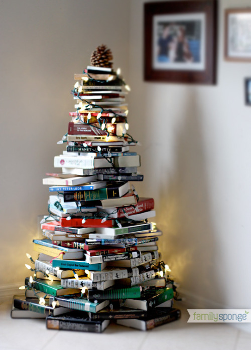 What a creative christmas tree! Reblogged from earth911