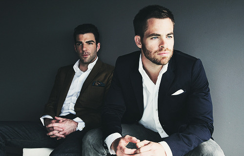 Chris Pine & Zachary Quinto by Gaye Gerard