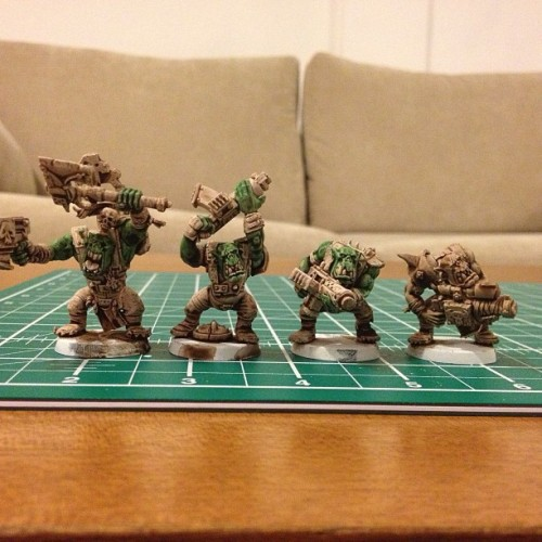 Painting Orks, work in progress…