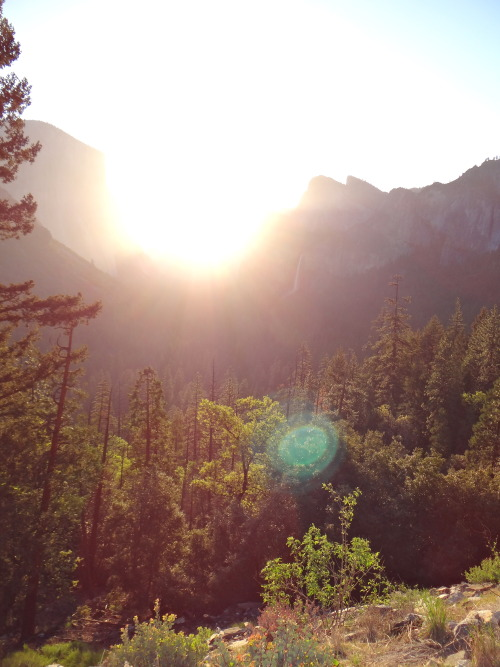 amornecesitadelafe:  Sunrise over Half Dome, Yosemite National Park