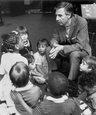 Mr.Rogers speaks with children, circa 1990s