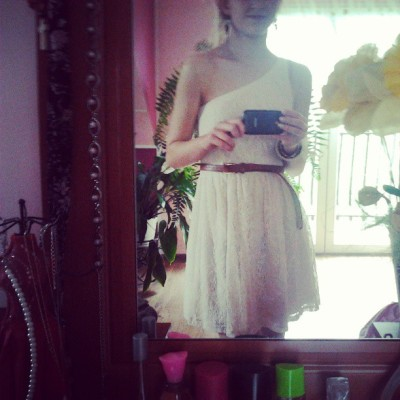 Zbyt blada do bieli :x #me #polish #girl #white #dress