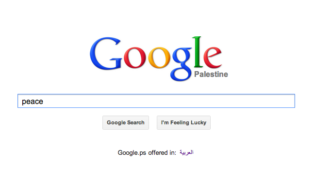 Searching for peace: Google.ps
