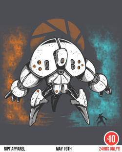 There's only five hours left to grab the big mecha Glados shirt from RIPT Apparel for only 10 bucks