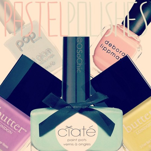 Pastel Polishes for Easter (www.osochic.com) #spring #beauty #instabeauty #easter #nails